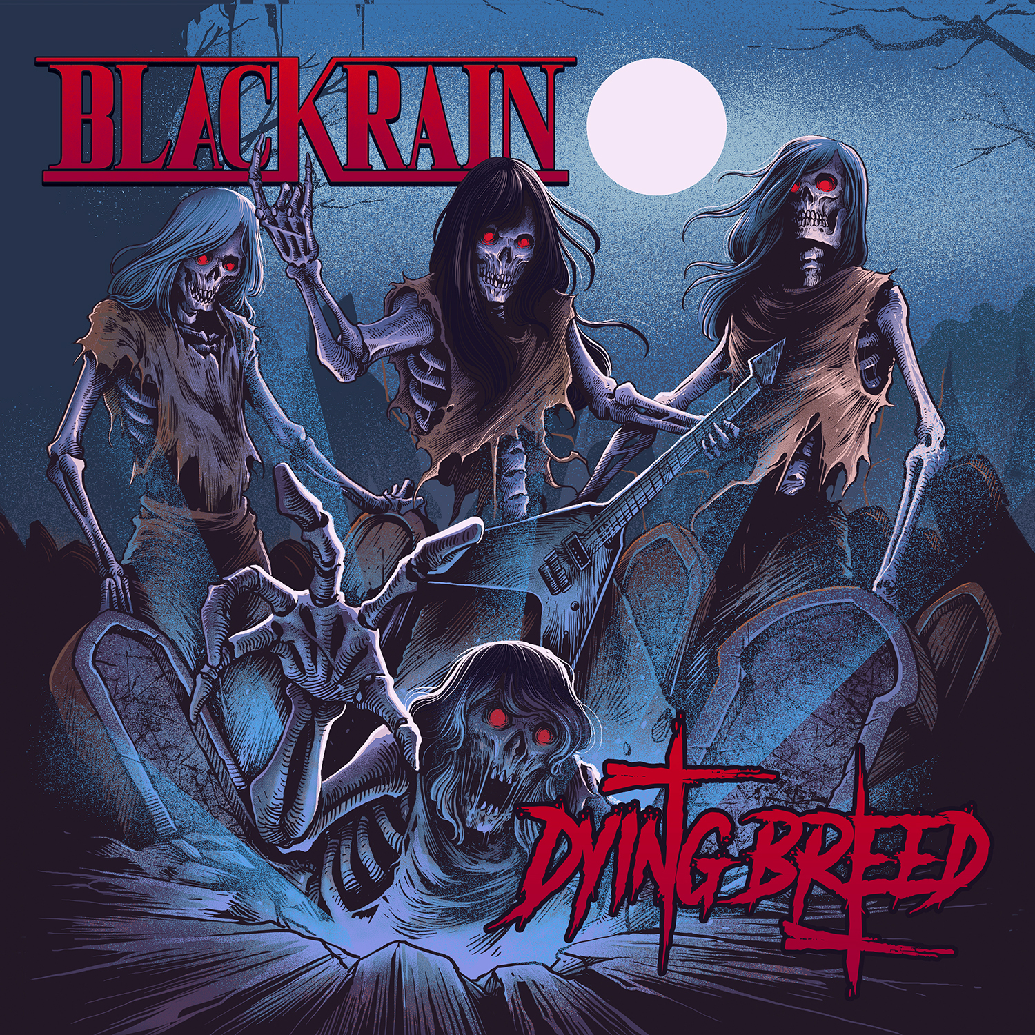 Sortie d'album : BLACKRAIN (Hair Metal) Dying Breed (2019)